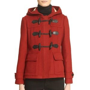 Windsor Red Duffle Blackwell Short Wool Coat